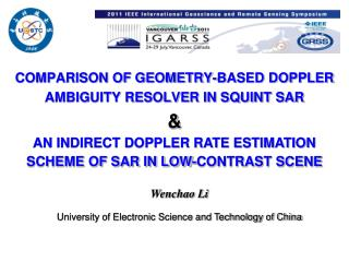 COMPARISON OF GEOMETRY-BASED DOPPLER AMBIGUITY RESOLVER IN SQUINT SAR &