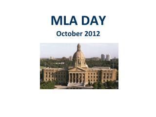 MLA DAY October 2012