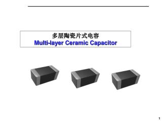 多层陶瓷片式电容 Multi-layer Ceramic Capacitor