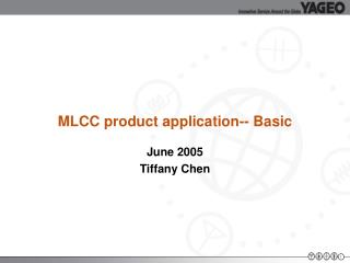 MLCC product application-- Basic