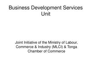 Business Development Services Unit