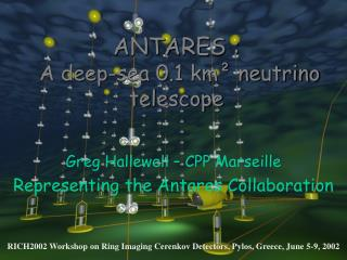 ANTARES :  A deep-sea 0.1 km² neutrino telescope