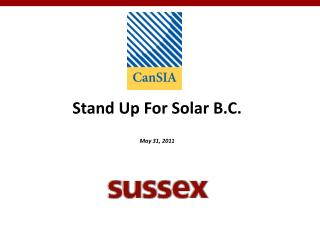 Stand Up For Solar B.C. May 31, 2011
