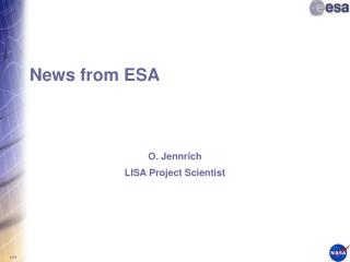 News from ESA