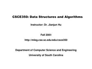 CSCE350: Data Structures and Algorithms