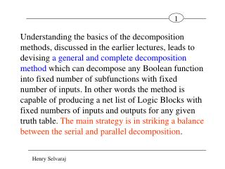 Multi-level General and Complete  Decomposition