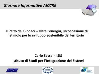 Carlo Sessa  - ISIS Istituto di Studi per l ' Integrazione dei Sistemi