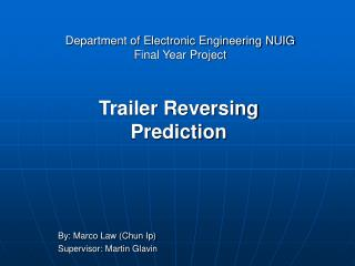 Department of Electronic Engineering NUIG Final Year Project