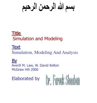 Title Simulation and Modeling Text Simulation, Modeling And Analysis By