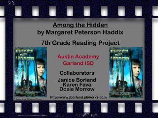 Among the Hidden by Margaret Peterson Haddix 7th Grade Reading Project