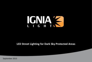 LED Street Lighting for Dark Sky Protected Areas