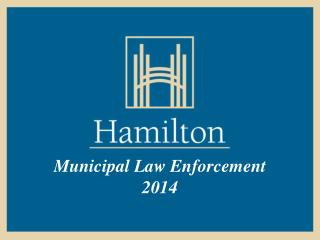 Municipal Law Enforcement  2014
