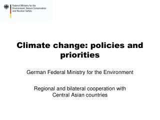 Climate change: policies and priorities