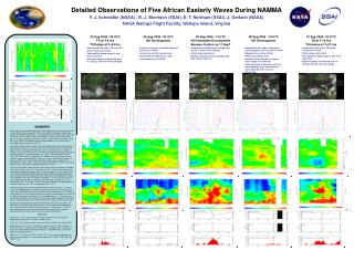 Detailed Observations of Five African Easterly Waves During NAMMA