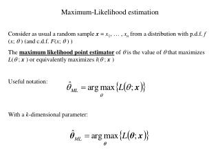 Maximum-Likelihood estimation