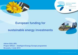 European funding for  sustainable energy investments