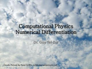 Computational  Physics Numerical Differentiation