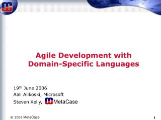 Agile Development with Domain-Specific Languages