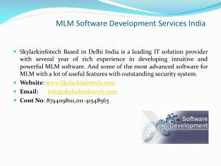MLM Software  Development Services India