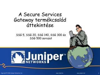 A  Secure Services Gateway  termékcsalád áttekintése
