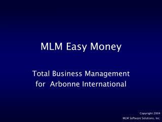 MLM Easy Money