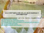 6 LA CONTAMINACI N DE LAS AGUAS MARINAS Y CONTINENTALES:
