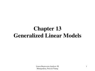 Chapter 13 Generalized Linear Models