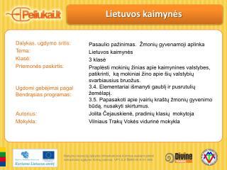 Lietuvos kaimynės