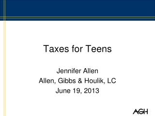 Taxes for Teens