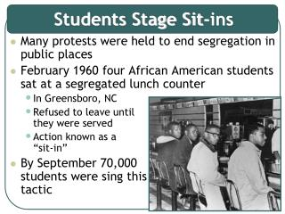 Students Stage Sit-ins