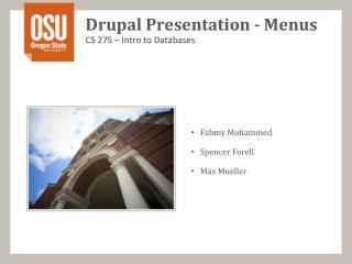 Drupal  Presentation - Menus