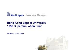 Hong Kong Baptist University 1998 Superannuation Fund