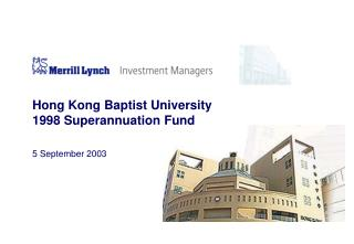Hong Kong Baptist University 1998 Superannuation Fund
