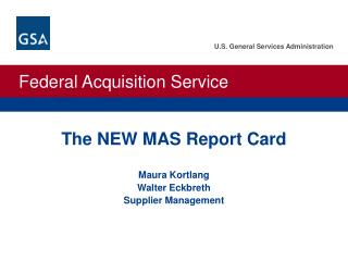 The NEW MAS Report Card