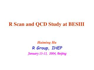R Scan and QCD Study at BESIII