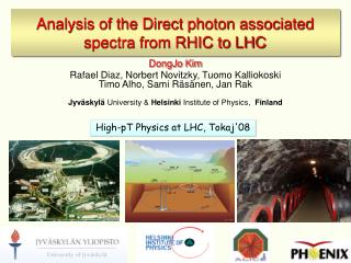 Analysis of the Direct photon associated spectra from RHIC to LHC