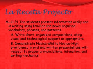 La  Receta Projecto
