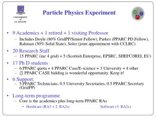 Particle Physics Experiment