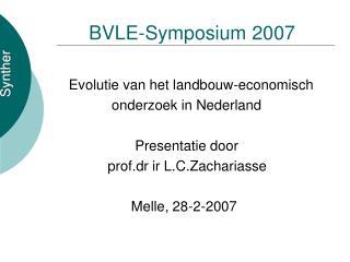 BVLE-Symposium 2007