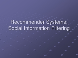 User Modeling,  Recommender Systems  Personalization