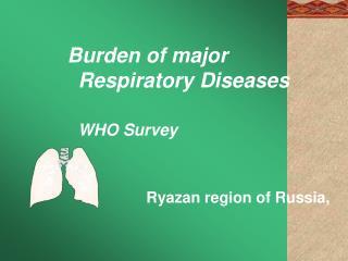 Burden of major  Respiratory Diseases WHO Survey Ryazan region of Russia,