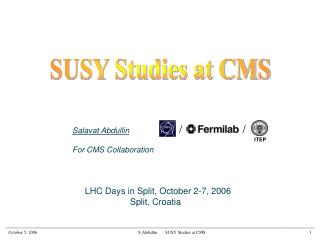 SUSY Studies at CMS