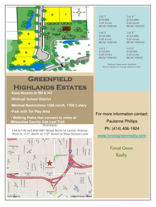 Greenfield Highlands Estates