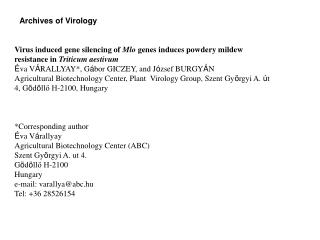 Archives of Virology