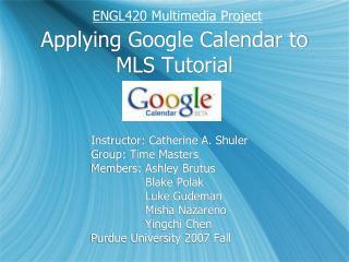 Applying Google Calendar to MLS Tutorial