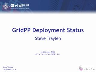 GridPP Deployment Status
