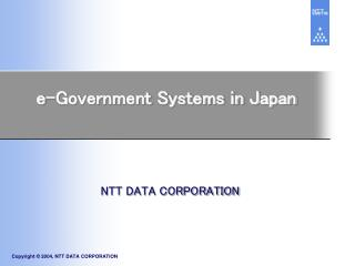 e-Government Systems in Japan