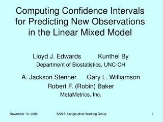 Computing Confidence Intervals for Predicting New Observations in the Linear Mixed Model