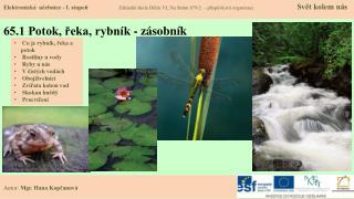 65.1 Potok, řeka, rybník - zásobník