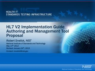 HL7 V2 Implementation Guide Authoring and Management Tool Proposal